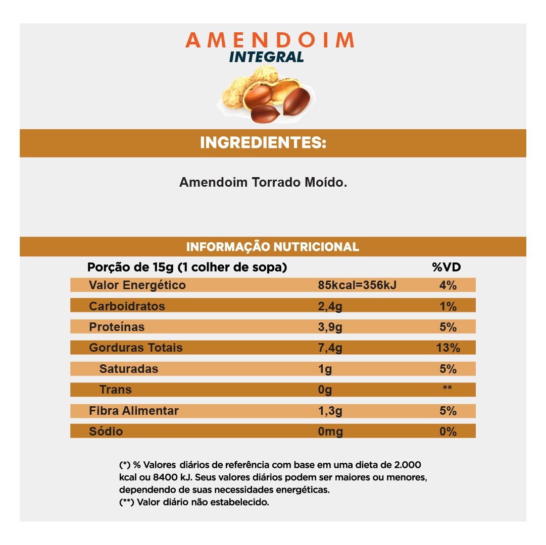 Pasta de Amendoim Integral (350g)