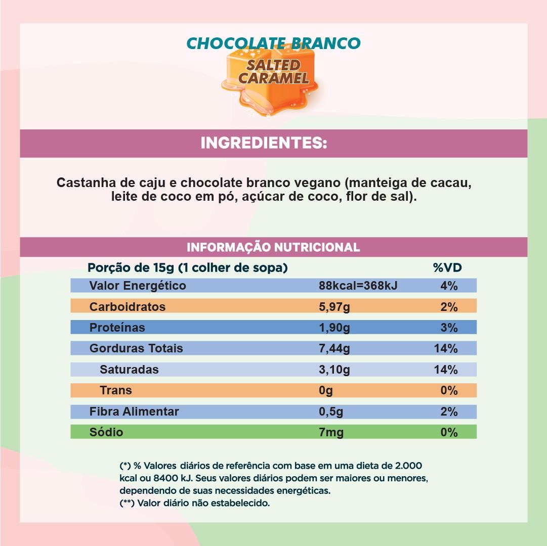 Pasta de Castanha com Chocolate Branco e Caramelo Salgado (210g)