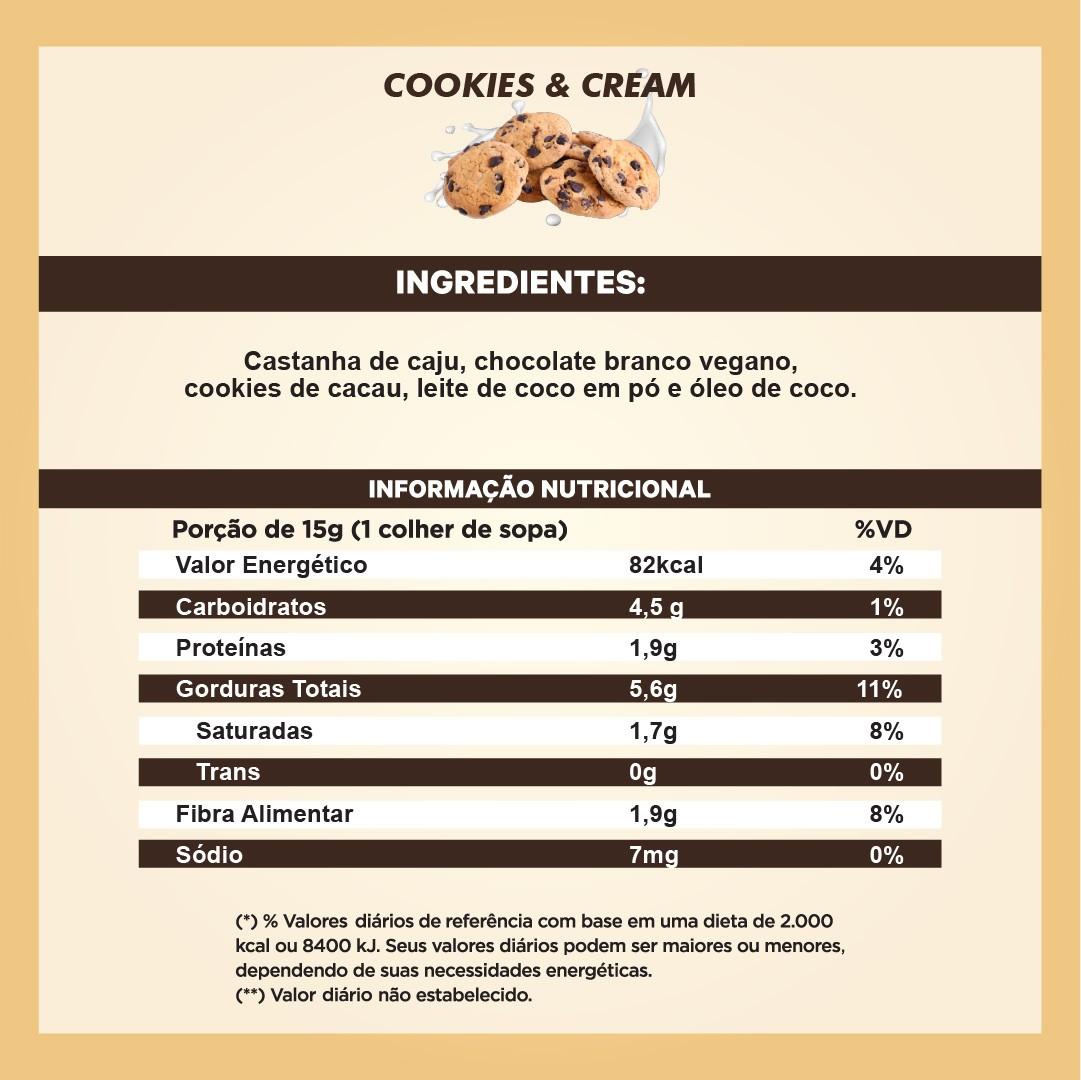 Pasta de Castanha sabor Cookies & Cream (210g)