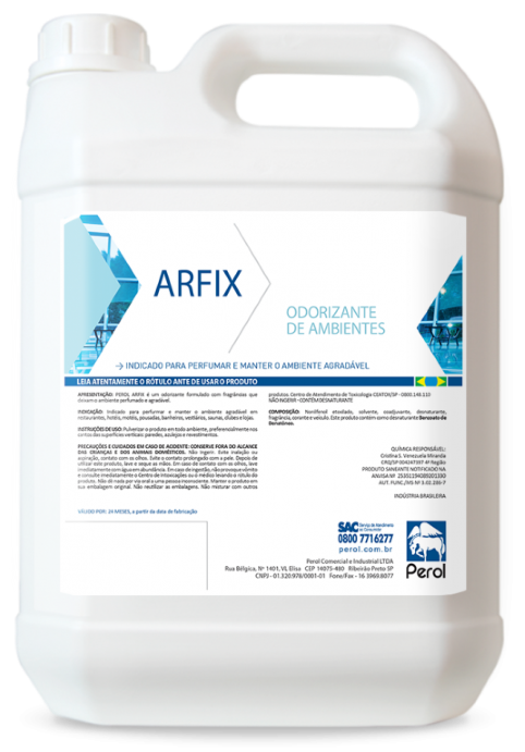 ARFIX - ODORIZANTE - 5 Litros - Perol