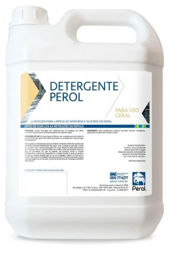 DETERGENTE PEROL - USO GERAL  - 5 Litros - Perol