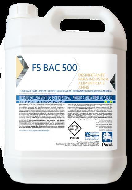 FLOTADOR F5 BAC 500 - LIMPADOR E BACTERICIDA -  5 Litros - Perol