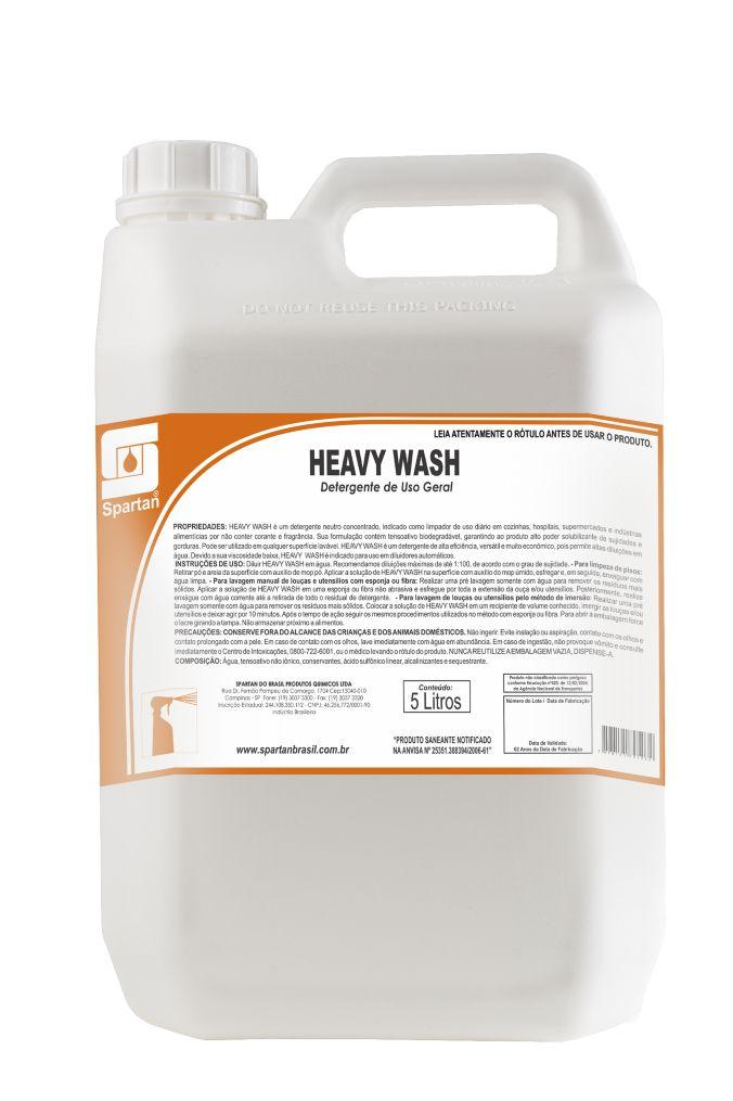 HEAVY WASH - DETERGENTE NEUTRO CONCENTRADO - 5 Litros - Spartan