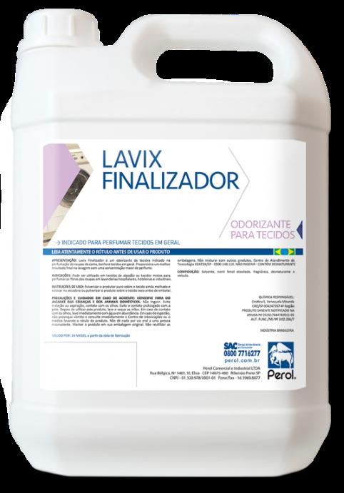 LAVIX FINALIZADOR - ODORIZANTE PARA TECIDOS E ROUPAS - 5 Litros - Perol