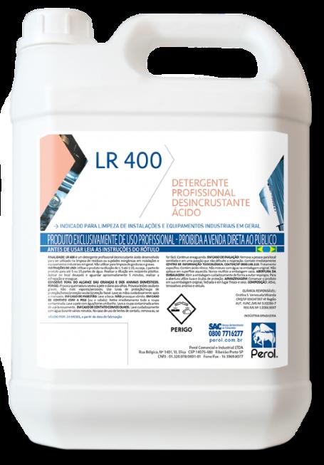 LR 400  - DETERGENTE PROFISSIONAL DESINCRUSTANTE - 5 Litros - Perol