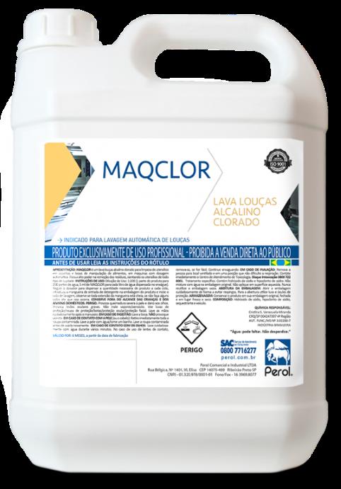 MAQCLOR - DETERGENTE ALCALINO CLORADO -  5 Litros - Perol