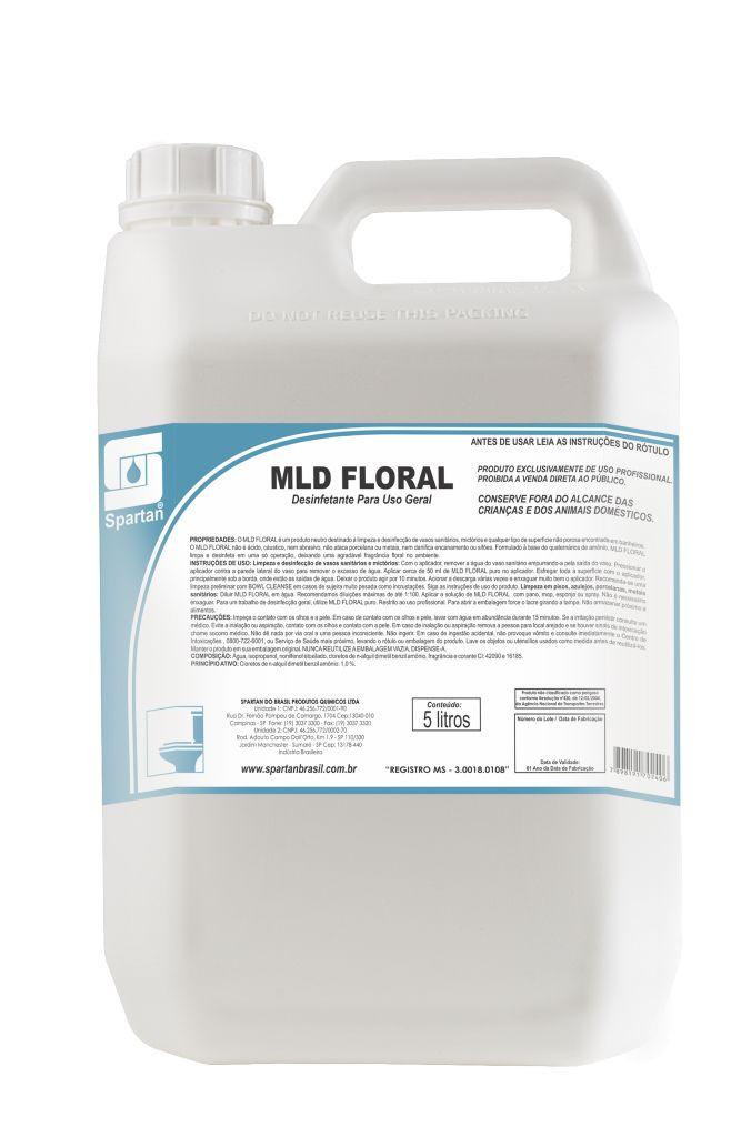 MLD FLORAL - LIMPADOR DESINFETANTE DE USO GERAL - 5 Litros - Spartan