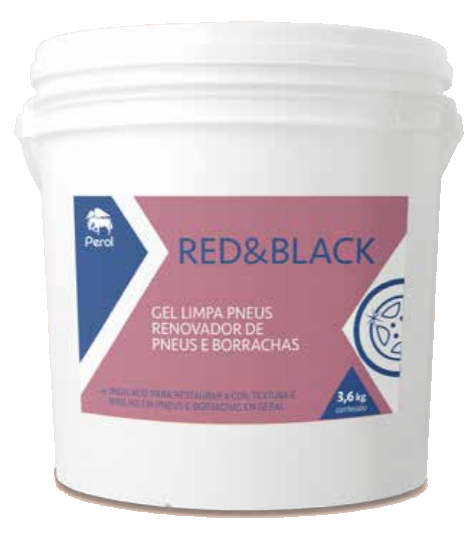 RED & BLACK GEL - RENOVADOR DE PNEUS E BORRACHAS - 3,6 Quilos - Perol