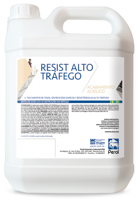 RESIST ALTO TRÁFEGO - ACABAMENTO ACRÍLICO PARA PISOS -  5 Litros - Perol