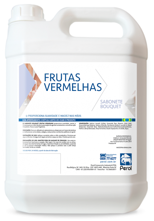 SABONETE BOUQUET - DIVERSAS FRAGRÂNCIAS - 5 Litros - Perol