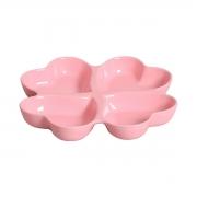 Petisqueira em Cerâmica Quatro Corações Rosa
