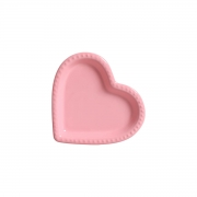 Travessa Petisqueira Coração Rosa com Relevo Médio