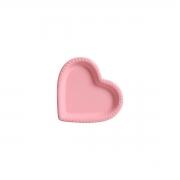 Travessa Petisqueira Coração Rosa com Relevo Pequeno