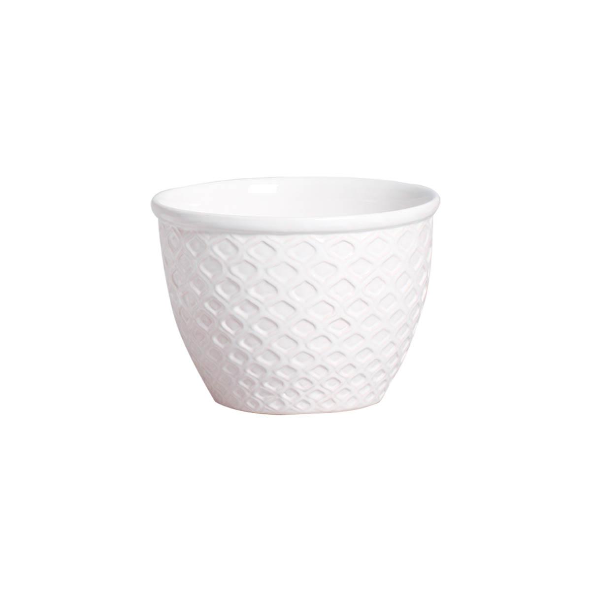 Cachepot em Cerâmica Branco Orvalho