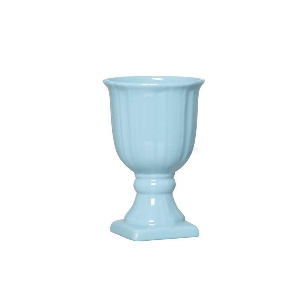 Vaso Haiti Esmaltada Azul