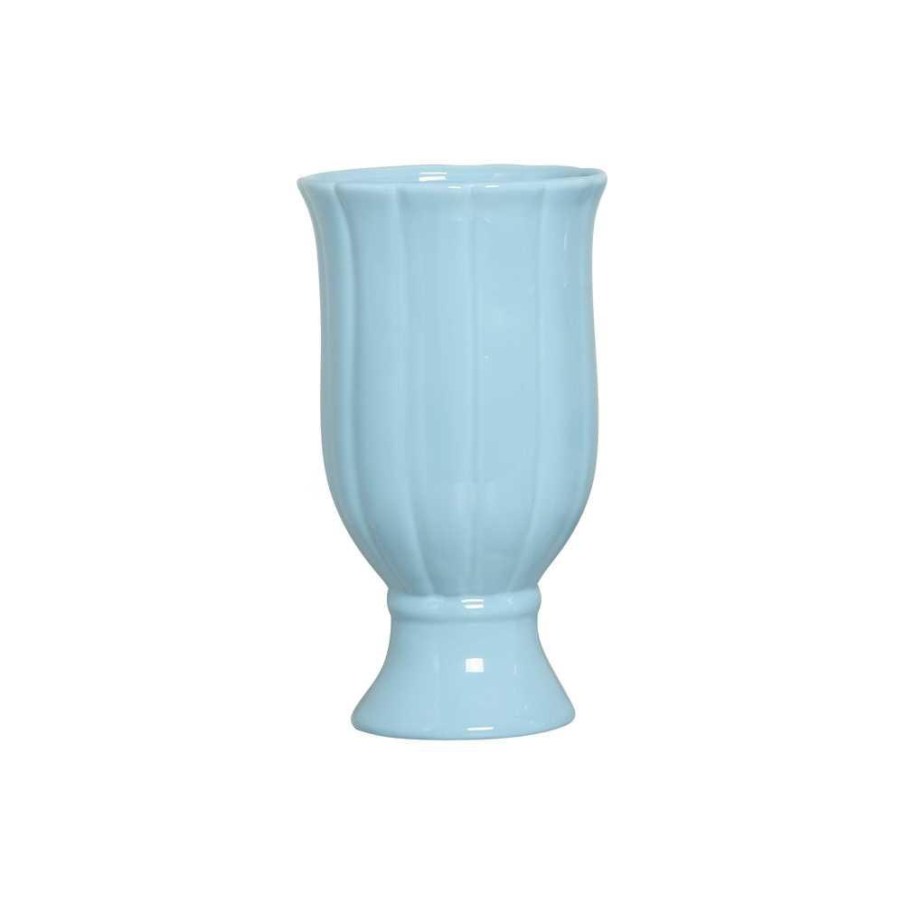 Vaso Citrino I Esmaltado Azul