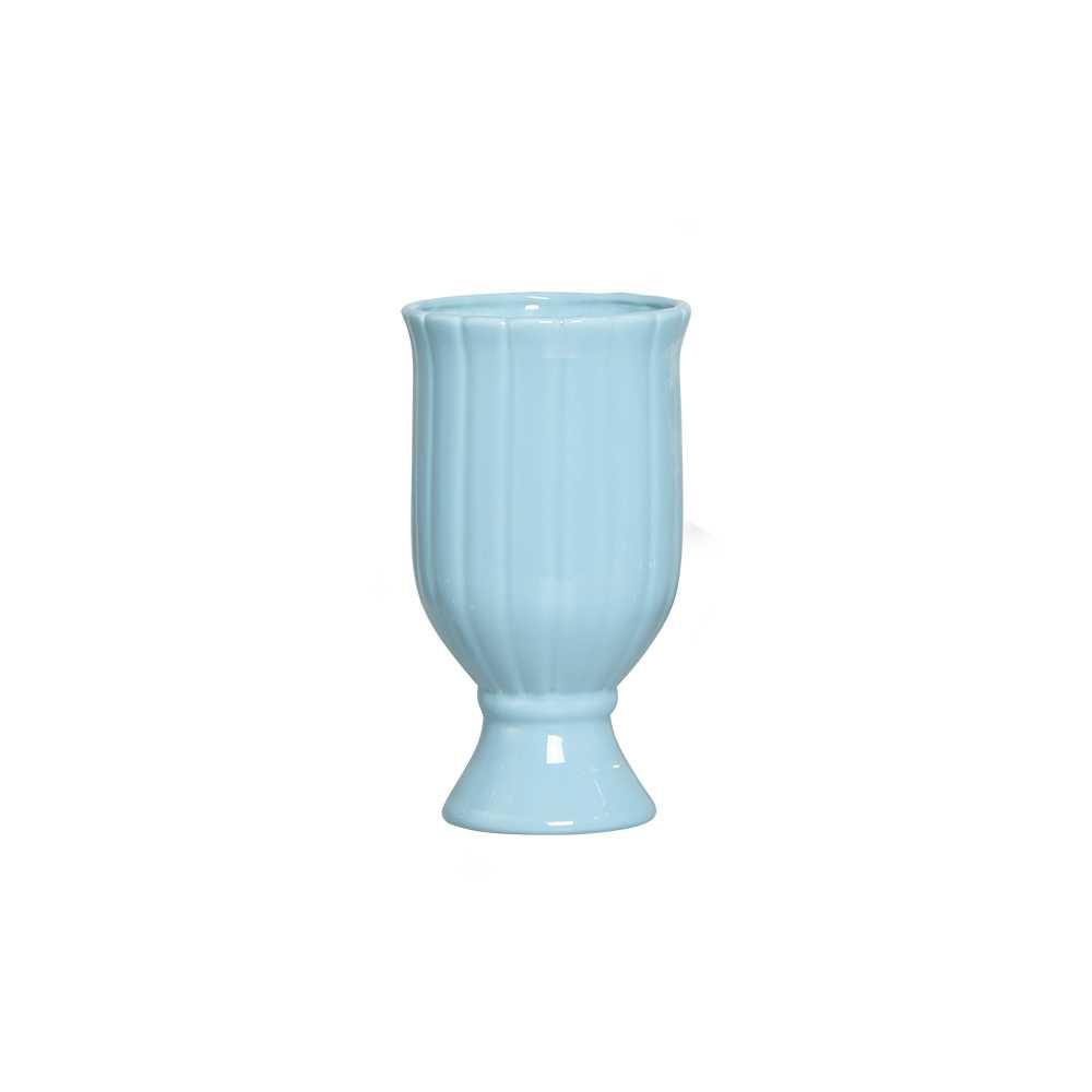 Vaso Citrino II Esmaltado Azul