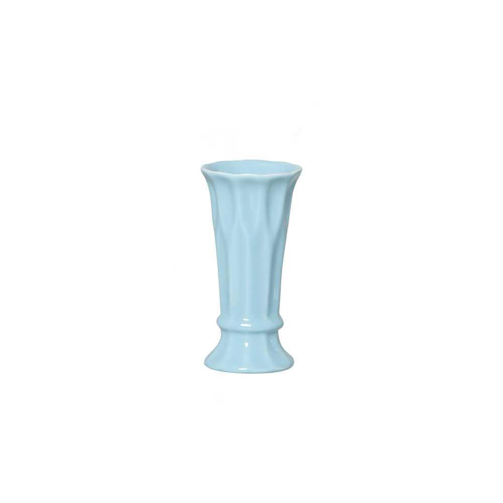 Vaso Arame III Esmaltado Azul