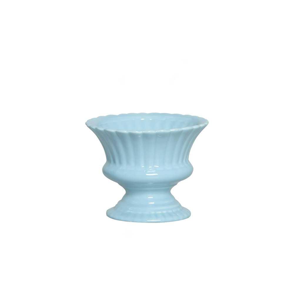 Vaso Safira Esmaltada Azul