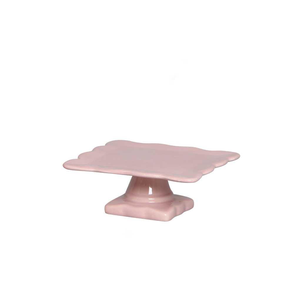 Requinte Quadrada II Esmaltada Rosa
