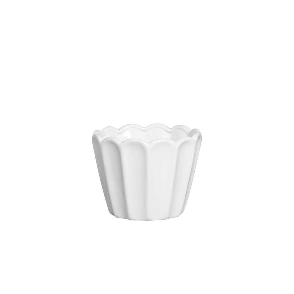Cachepot Sion I Esmaltada Branco
