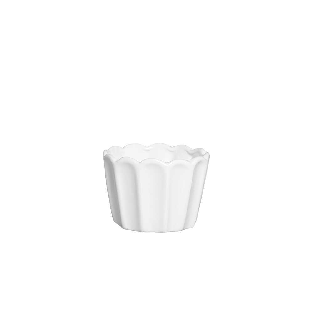 Cachepot Sion II Esmaltada Branco