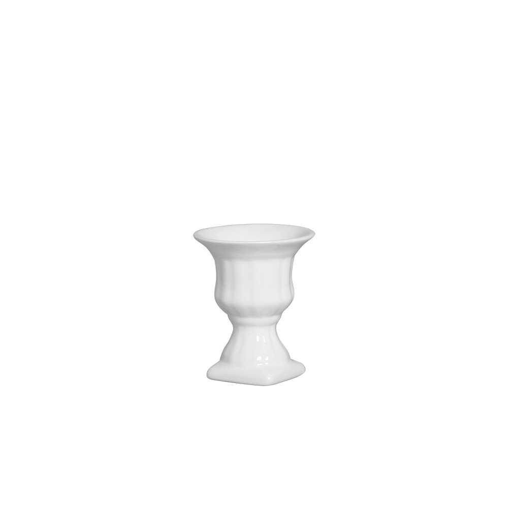 Vaso Contraste III Esmaltada Branco