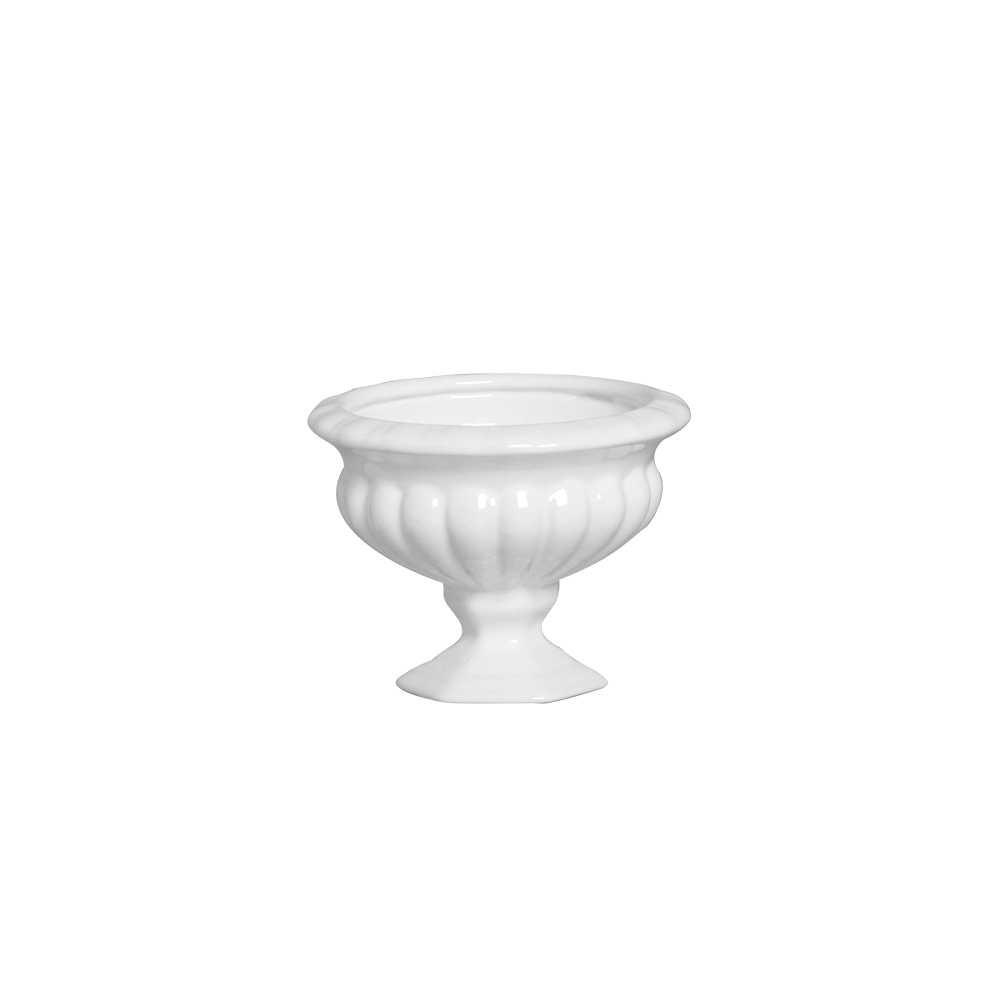 Cachepot Padua II Esmaltada Branco