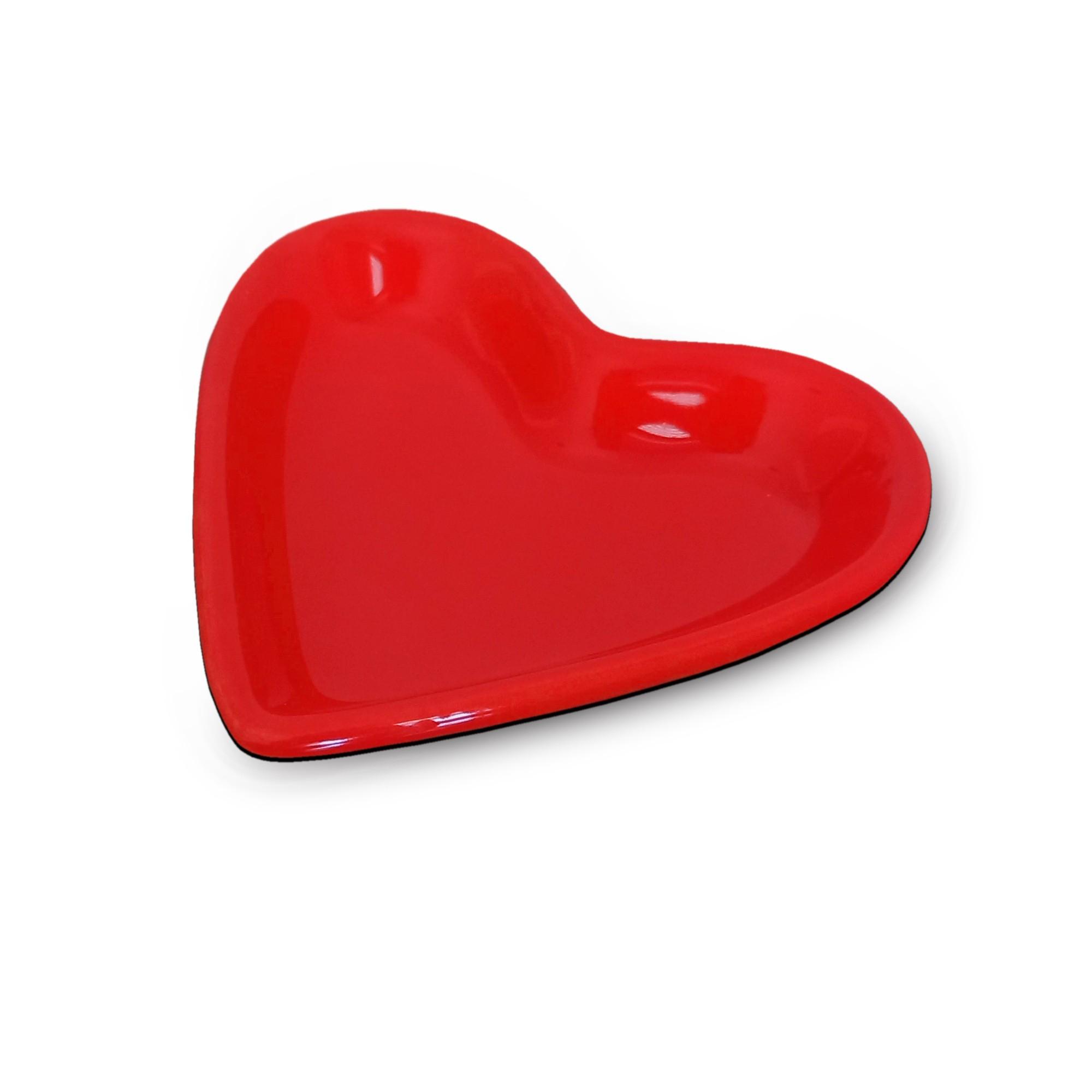 Petisqueira Coração Esmaltada