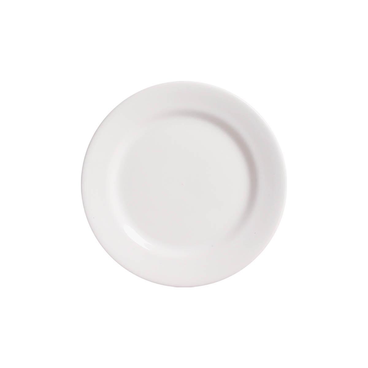 Prato Sobremesa Requinte Lisa Branco Clássico