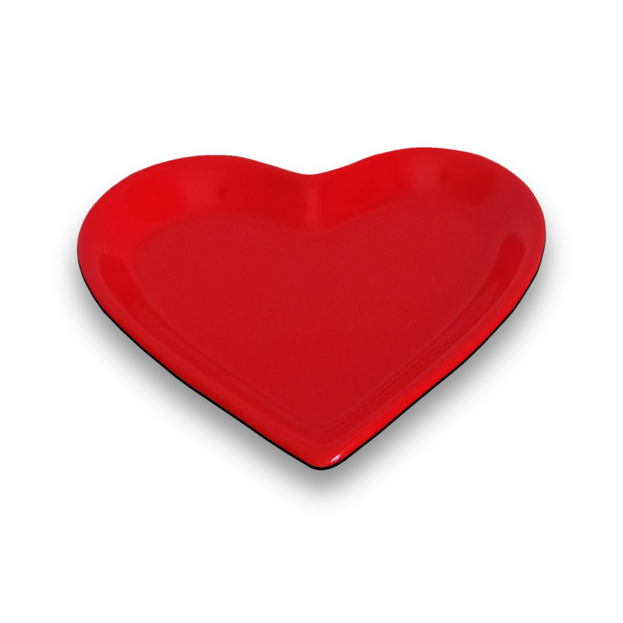 Travessa Coração Funda Esmaltada