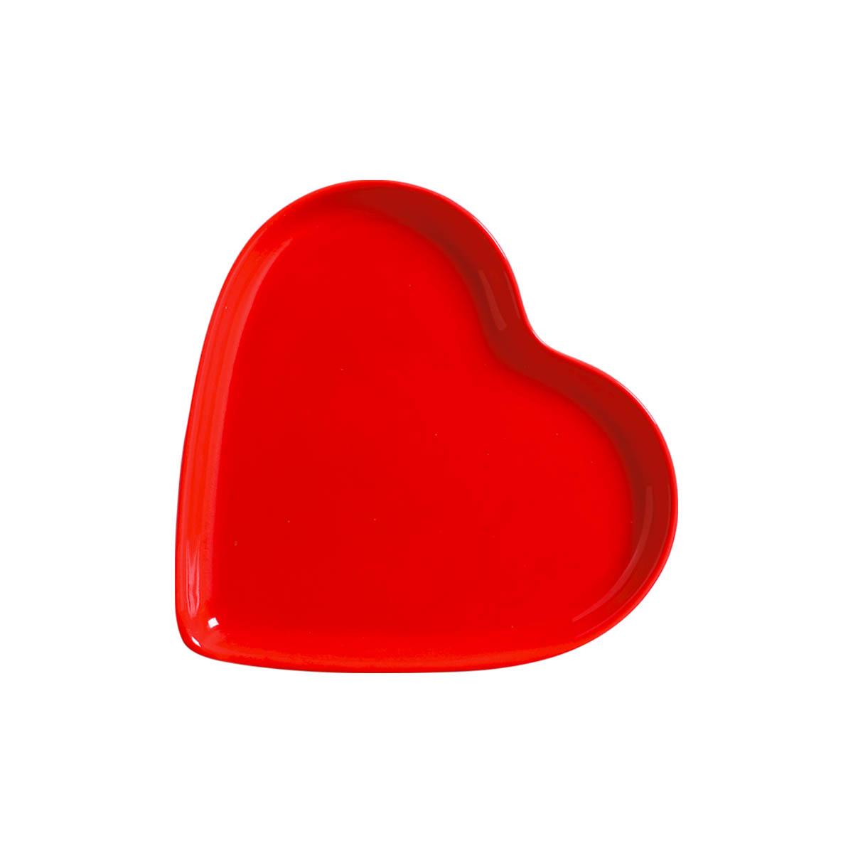 'Travessa Petisqueira Coração Vermelho Grande