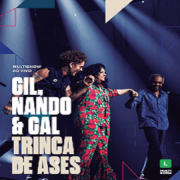 CD Duplo - Gilberto Gil, Nando Reis e Gal Costa - Trinca de Áses