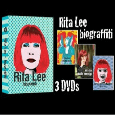 Box 3 DVDs - Rita Lee - Biograffiti  - BISCOITO FINO