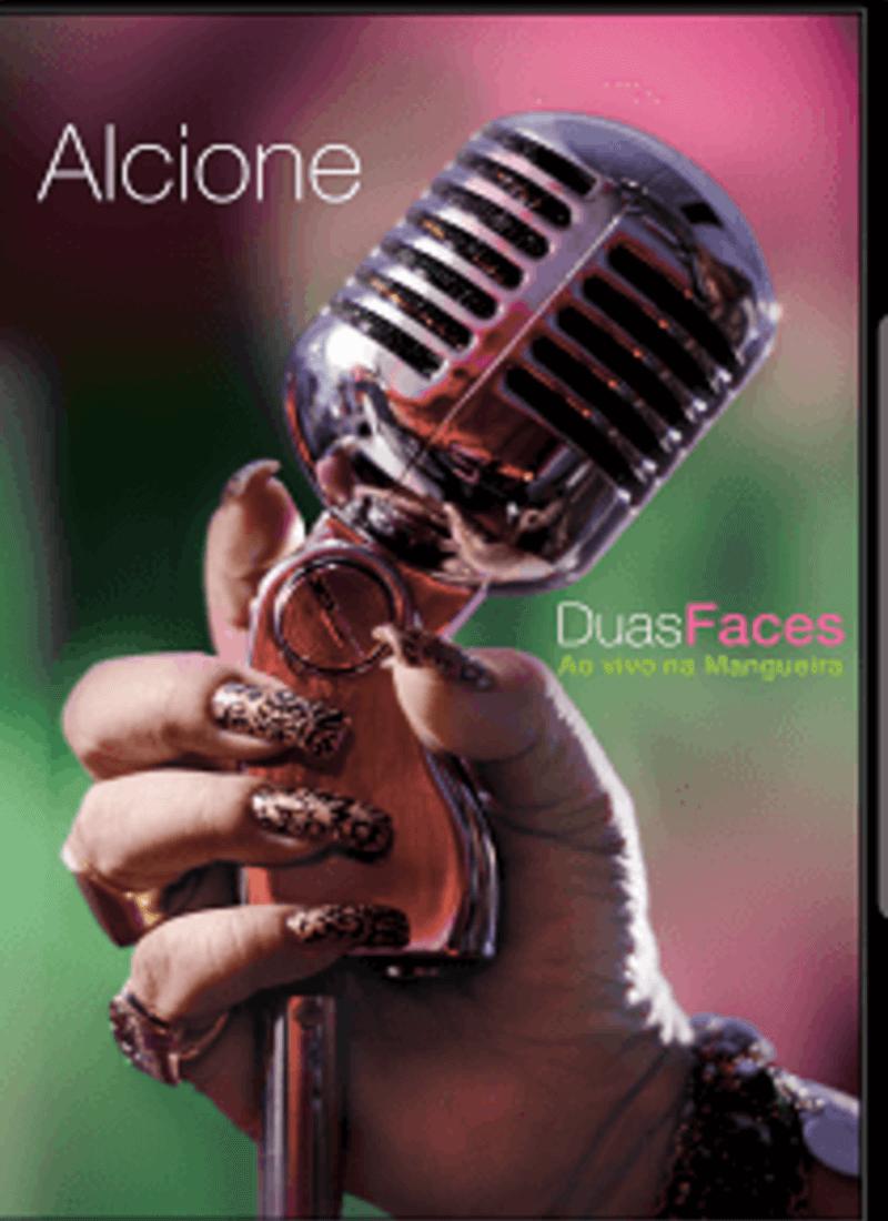 DVD - Alcione - Duas Faces Ao Vivo Na Mangueira  - BISCOITO FINO