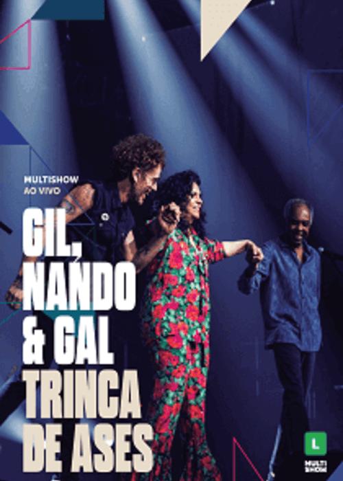 DVD Duplo - Gilberto Gil, Nando Reis e Gal Costa - Trinca de Áses