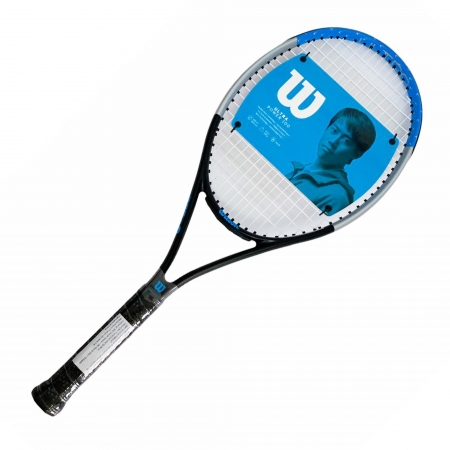 Raquete de Tênis Wilson Ultra Power 100 2 Preta Cinza e Azul