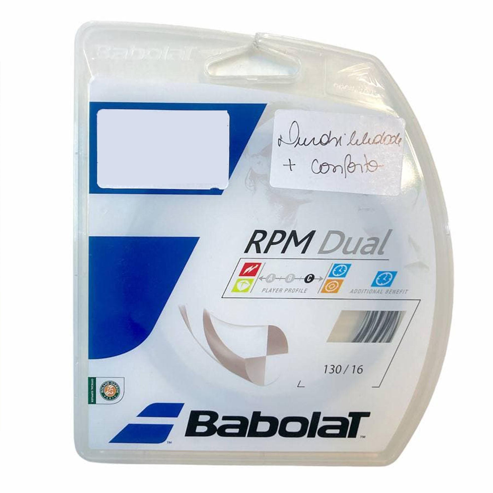 Corda Babolat RPM Dual 16L 1.30mm Preta - Set Individual