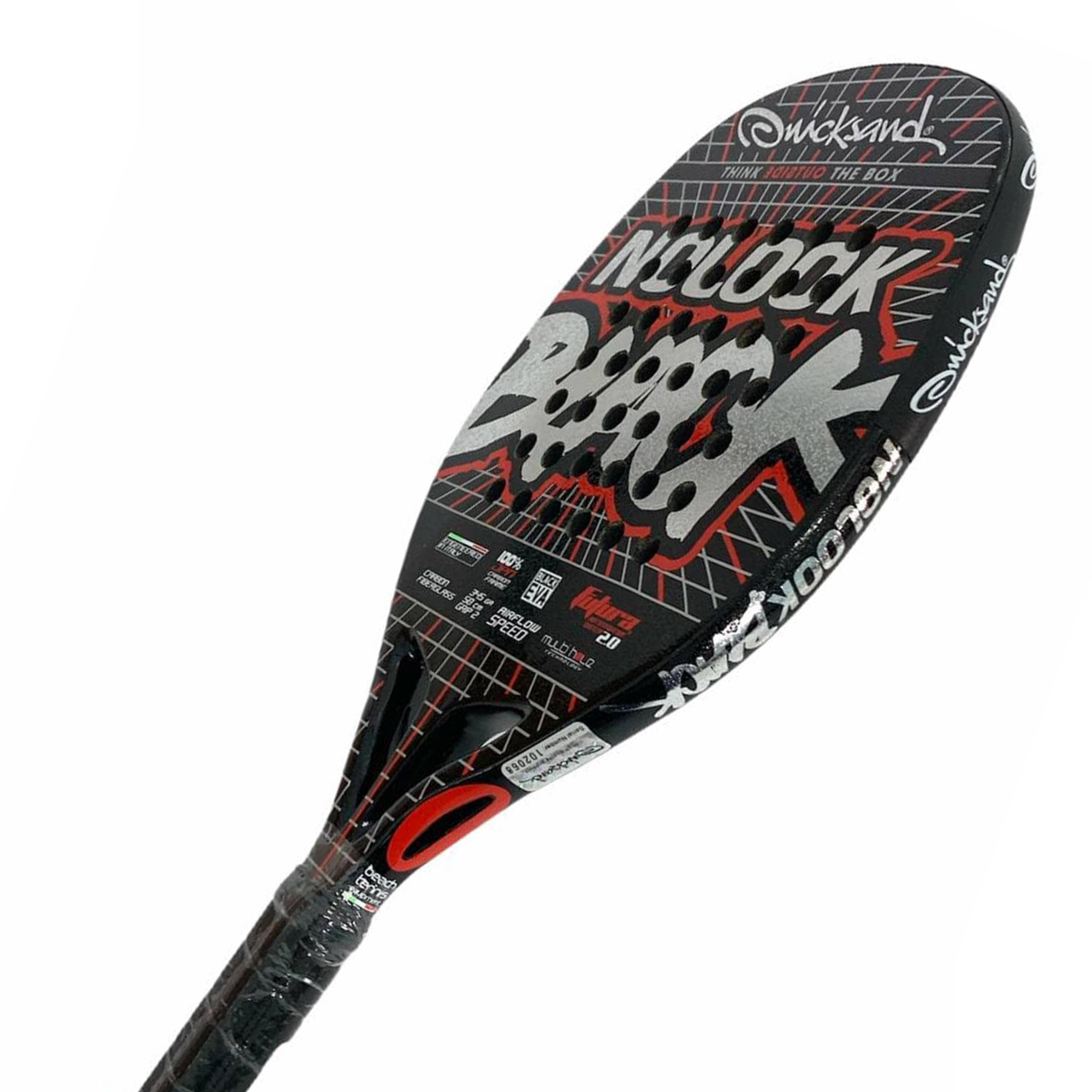 Raquete de Beach Tennis Quicksand Nolook Black