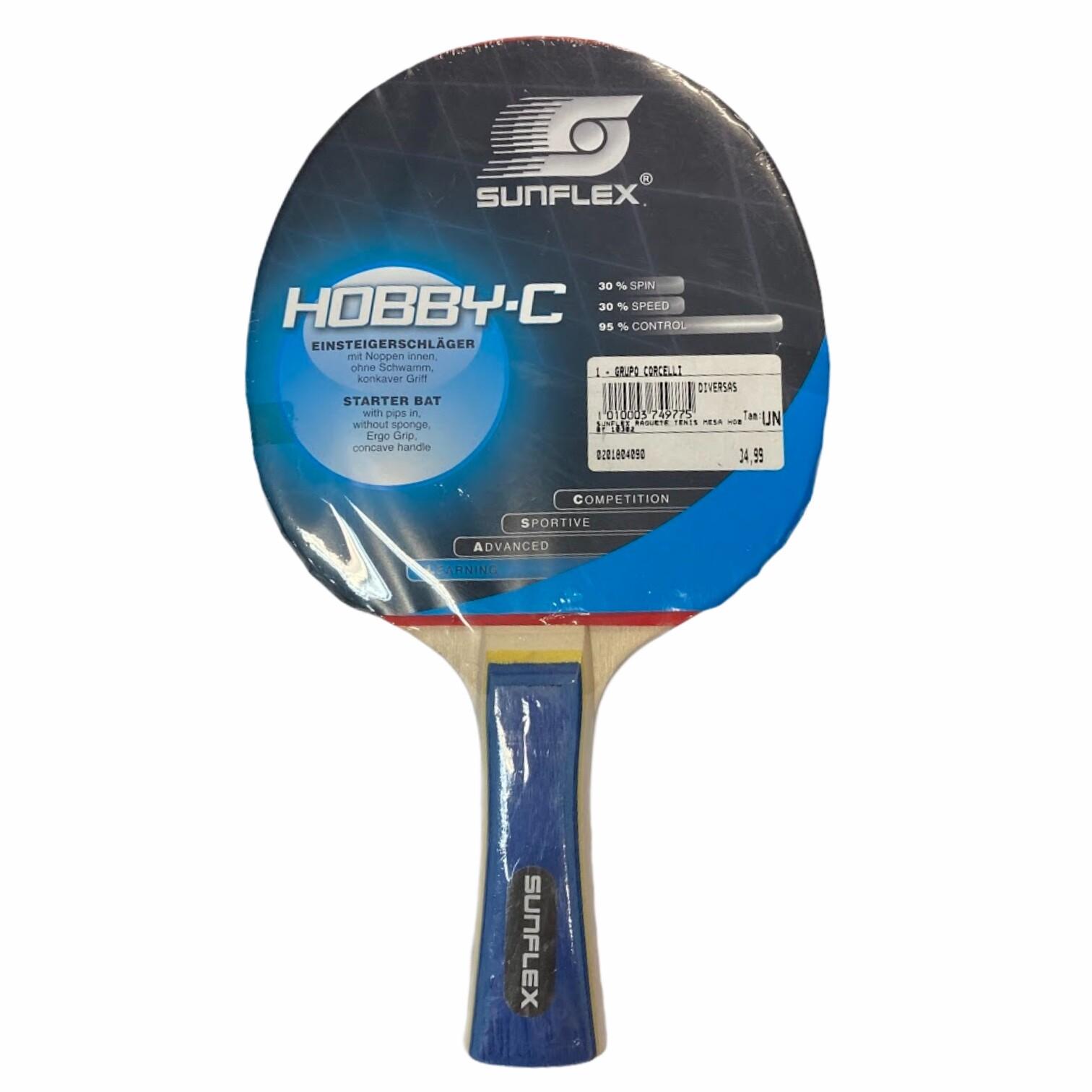 Raquete de tênis de mesa Sunflex Hobby