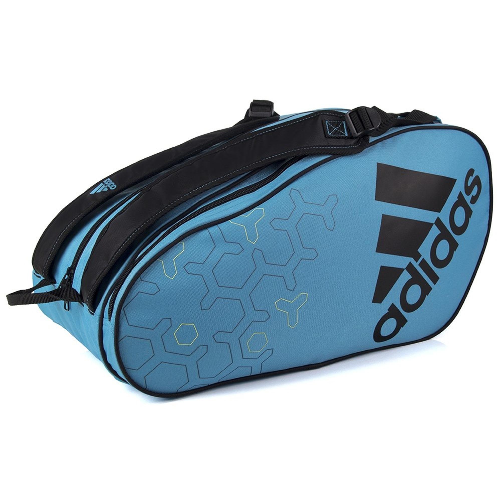 Raqueteira Adidas Control 2.0 Para Padel e Beach x7 Preta e Azul