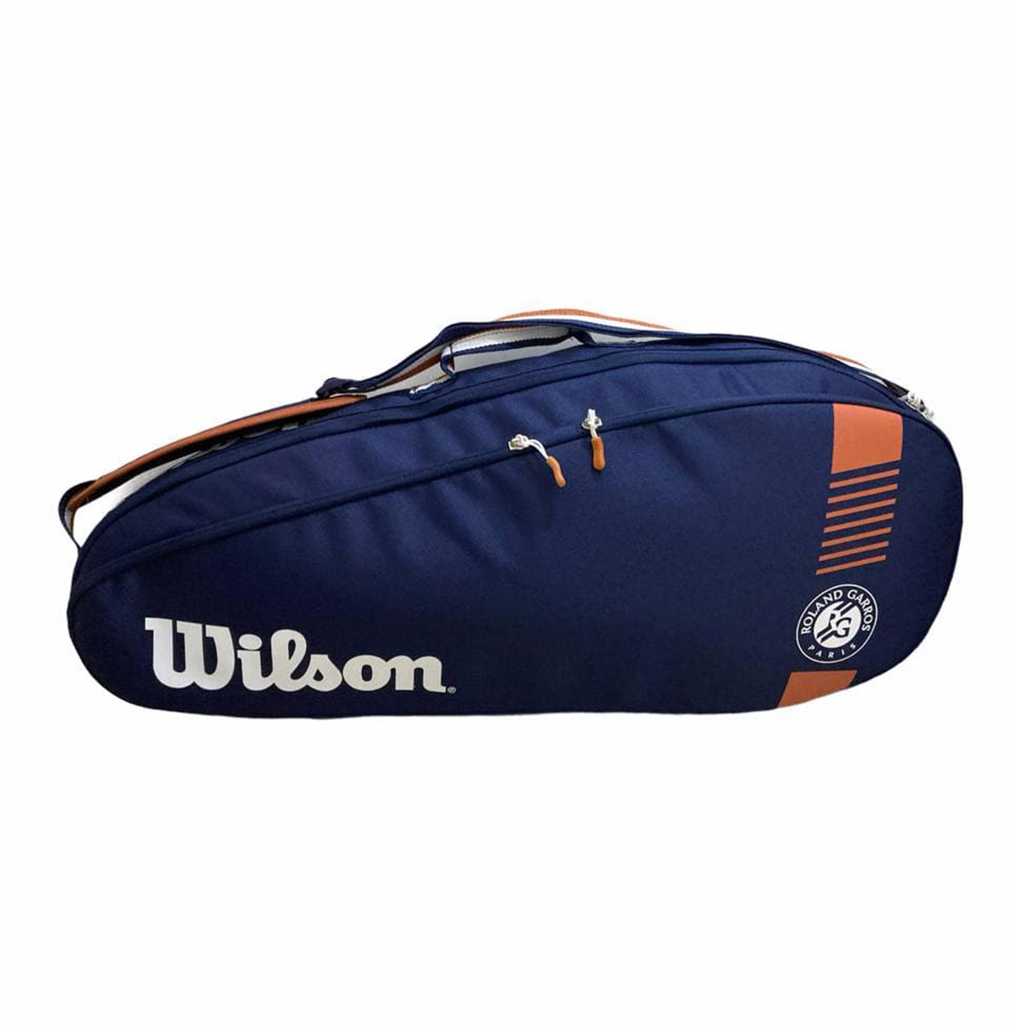 Raqueteira Wilson Roland Garros Team Azul e Marrom