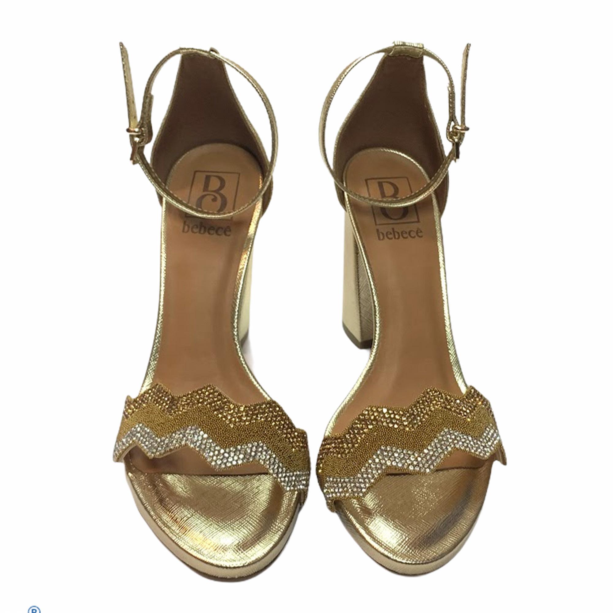 Sandália Bebecê Metalizada Dourada