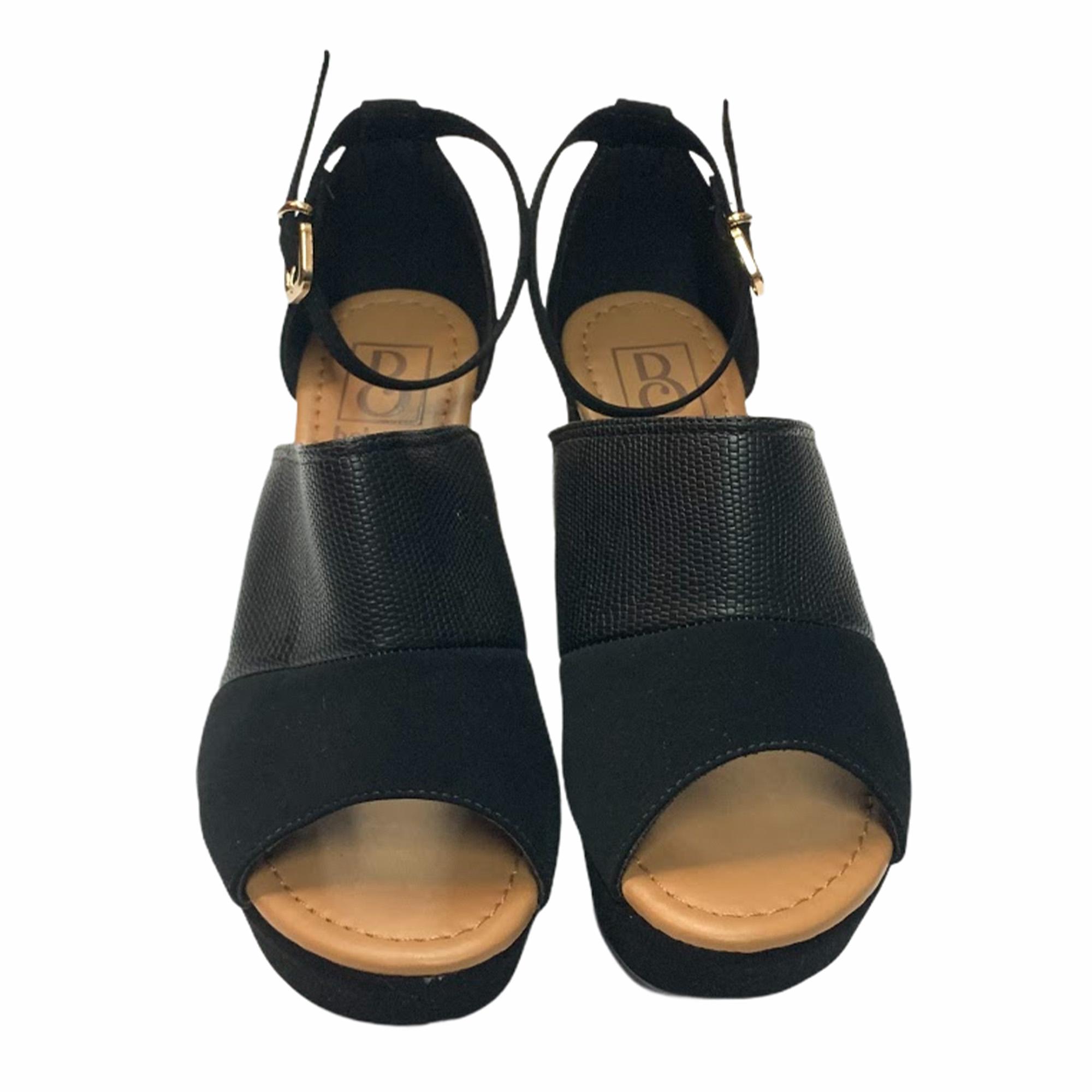 Sandália Bebecê Open Boot Peep Toe Preto