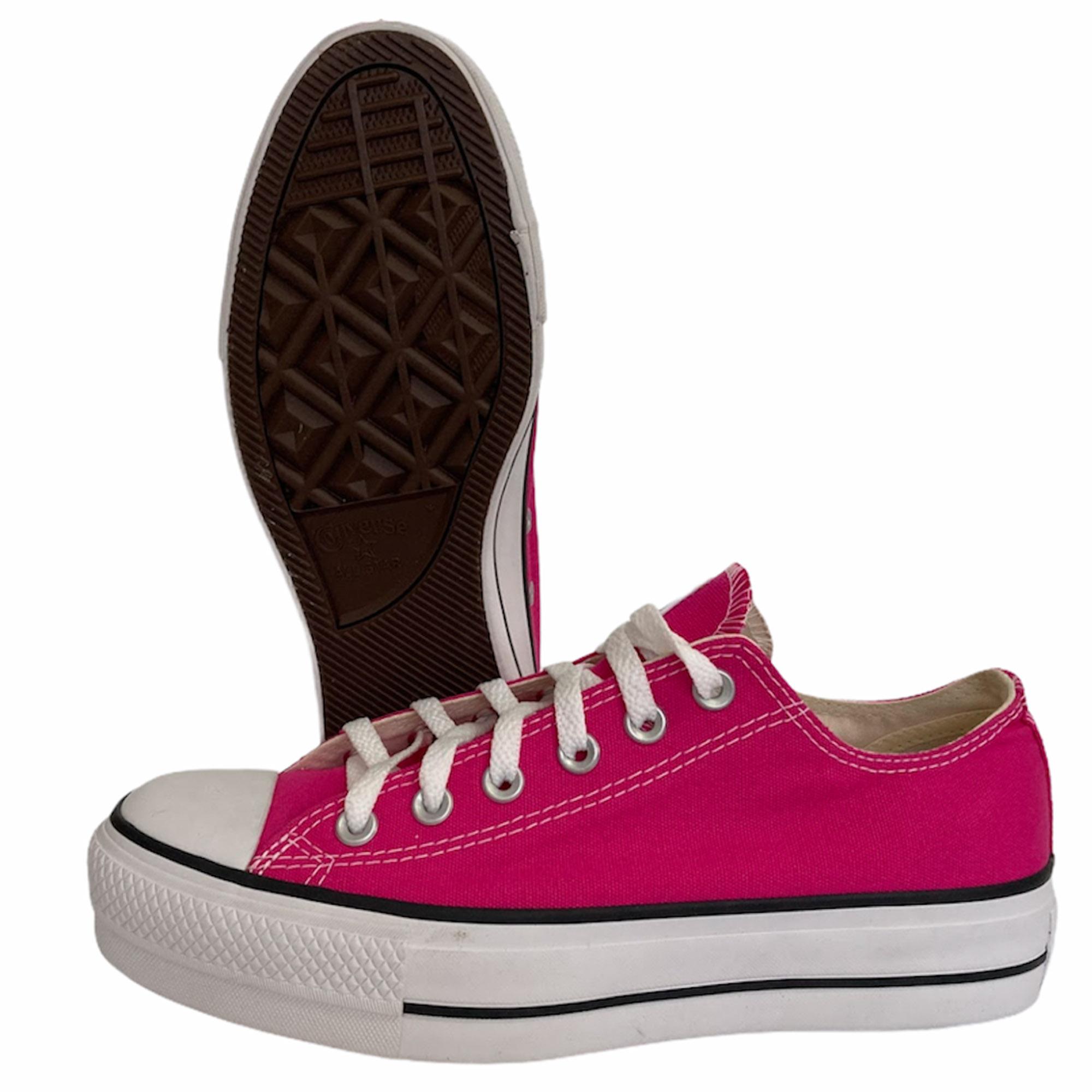 Tênis Converse Chuck Taylor All Star Platform Lift Ox Pink Fluor