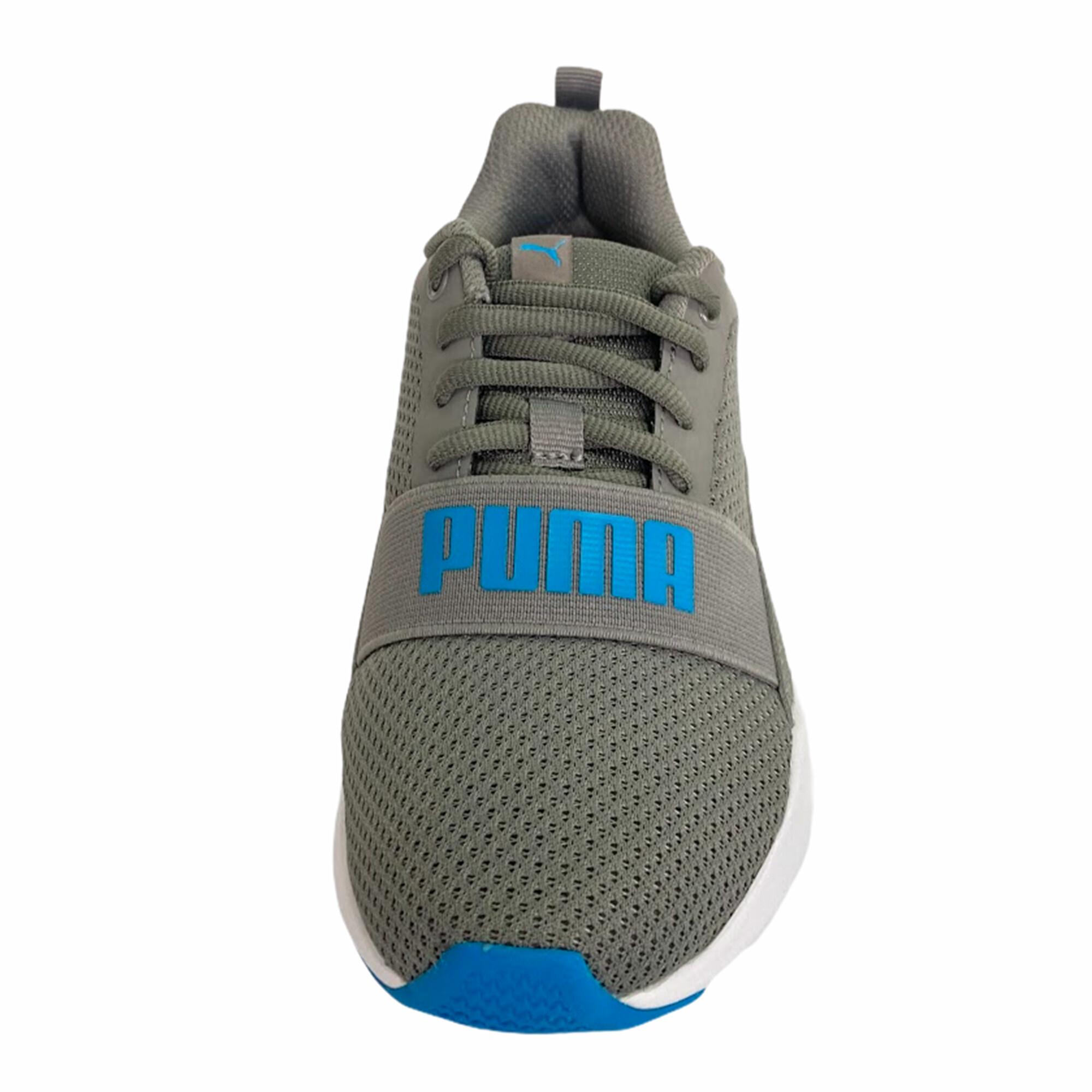 Tênis Infantil Puma Wired Jr - Cinza e Azul