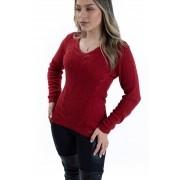 Blusa Fio especial Degote V Jéssi tricô