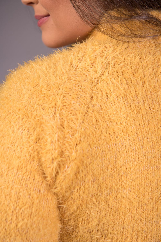 Blusa de Tricô de Pelo Gola Alta Jéssi Malhas