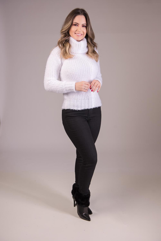Blusa Malha Inglesa em Trico de Pelo Jéssi Malhas