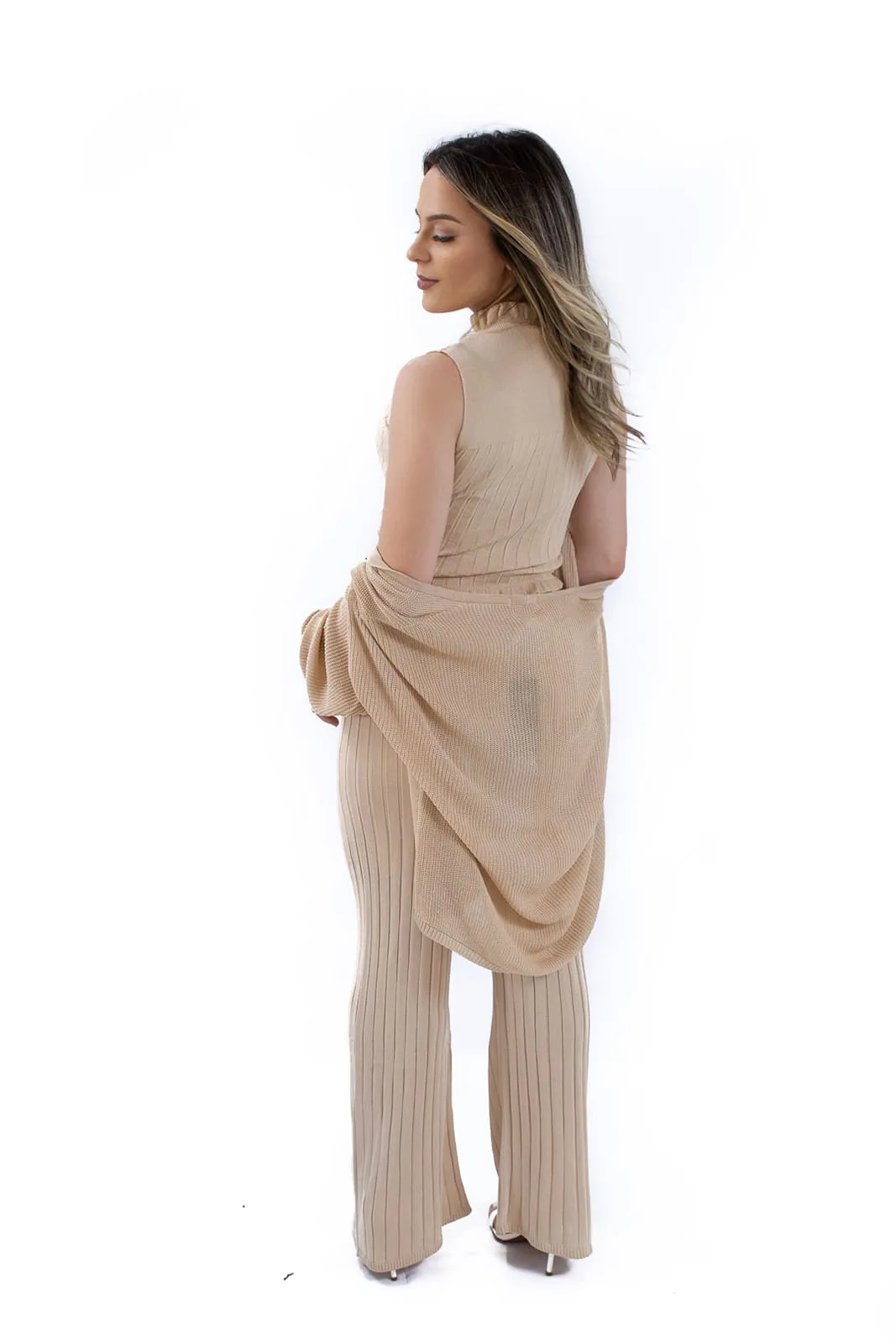 Pantalona Canelada Tricô de Viscose Jéssi